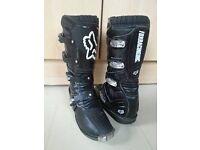 Fox racing motorbike boots, motorcycle boots