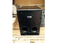 Mackie srs 1500 subwoofer with soft case.