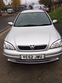 Lovely Silver Astra Estate Factory Fitted LPG giving 50 plus mpg .Velour interior ,cd radio,aircon