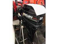 Mercury 20hp 2 stroke Long Shaft on tiller