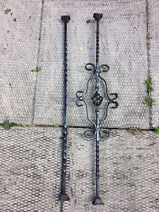IRON PICKETS AND BALUSTERS