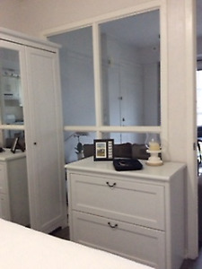 Ikea white two drawer chest of drawers in good condition