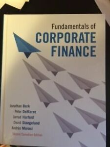 Fundamentals of Corporate Finance 2nd Can edition by Berk