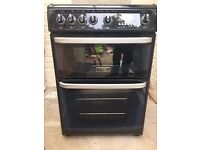 Freestanding Hotpoint Cannon Carrick gas cooker, double ovens. Immaculate condition.