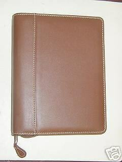 Collins Personal Organizer Portfolio Leather Tan 6 Rings 3 34 X 6 34 Inches