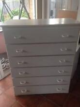 Chest of drawers - white melamine Cheltenham Kingston Area Preview