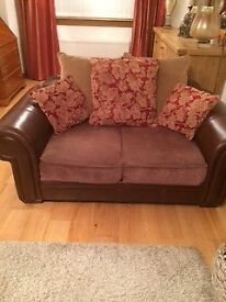 Quick sale - 3 & 2 seater couch & 1 chair leather/fabric