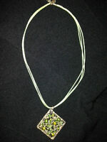 Steel & Stones Pendant Necklace - Contemporary & Stunning