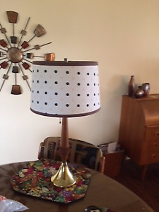 TEAK MIDCENTURY TABLE LAMP