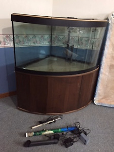 75 Gallon corner Aquarium
