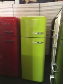 LIME GREEN SMEG FAB30 FRIDGE FREEZER. WTH WARRANTY/ can deliver/view