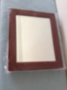 Wooden Frame Eyewear Mirror With Tray