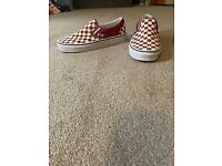 Unisex Vans Checkered Slip On Trainers UK Size 7.5 Unused.