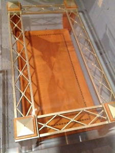 Glass Coffee Tables, Hardwood Base, Brampton