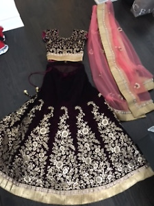 Indian Wedding/Reception Dress - Deep Wine Color