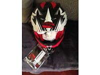 Boxed new helmet, boots and body protector unwanted gifts sensible offers, buyer collects.