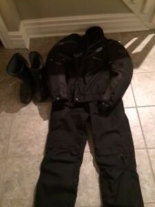 Men's Motorcycle jacket, pants and boots