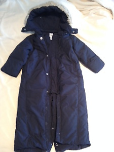 One piece snow suit, down filled, size 12 - 18 month, Gap