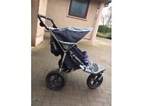 Double Buggy out n about 360 navy and black with rain cover..