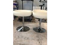 2 Leather Table Stools in Excellent Condition for All Purpose Use