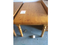 solid 6x3 pine table