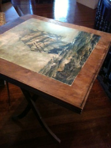 Hand Painted Card Table