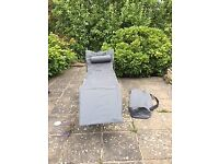 Canvas Sun Lounger with Carry Bag
