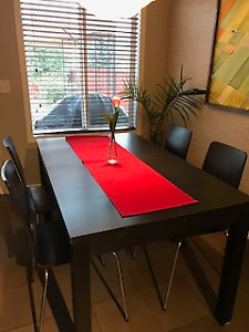 DINING TABLE WITH 4 CHAIRS FOR 180 OBO