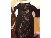 Stunning black and gold lace dress