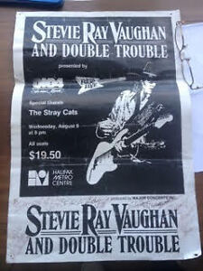 Rare  Stevie Ray Vaughan halifax poster signed by srv and all