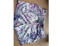 Ladies linen mix shorts size 8/10