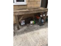 Pine workbench/potting table