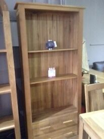 Solid Oak Open Display Cabinet