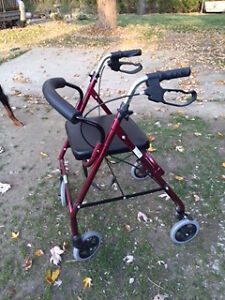 Four Wheel Roller Walker with Seating Windsor Region Ontario image 1