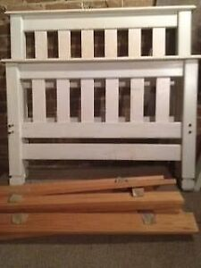 Pine wood single bed frame and thick plush mattress - fabulous cond Petersham Marrickville Area Preview