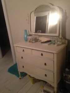 Antique Chalk Painted Dresser