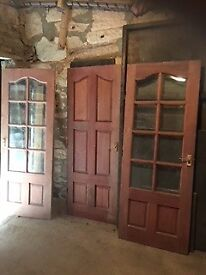 Quality Internal Solid Hardwood Doors (9 available)