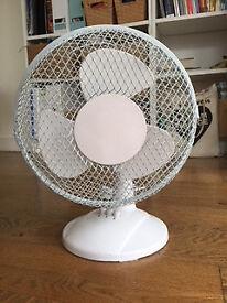 White Desk Fan -12 inch
