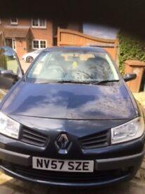Renault Megane 57 plate 1.6 118,000 miles perfect condition MOT Until Nov 17