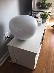 White Round IKEA Lamp For Sale
