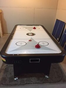 Full Size Air Hockey and Table Tennis Set 3.5FT Wide by 7 FT