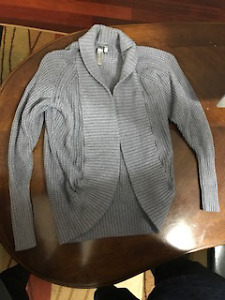 Triple Flip Cardigan - grey -Girls size 4