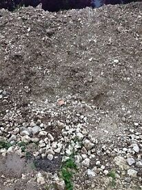 Free Mud / soil, mixed with chalk (a very expensive aggregate) free to collect