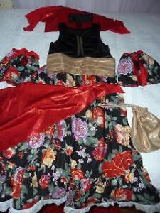 Beutiful Gypsy's costume for girl 7-9 years old