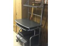 TALL TIERED PC WORK STATION EX COND BARELY USED COLOUR GREY