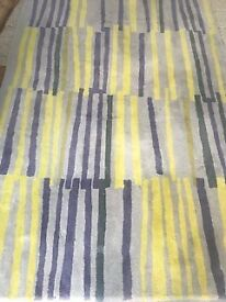 Yellow and GreY tetta Habitat Rug In Excellent condition