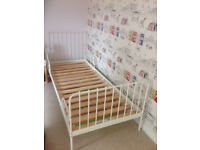 Beautiful extendable child's bed, white (IKEA)