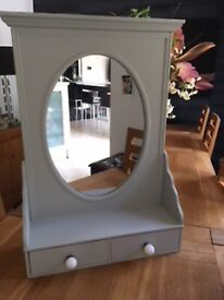 Dressing table mirror (or wall mounted) with drawers,