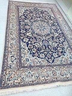 Persian Rug-Antique, Nain, pure wool, hand woven, in vgc