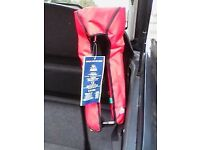 manual gas inflation life jackets, made by sgs yarsley international. never been used. 4 in total